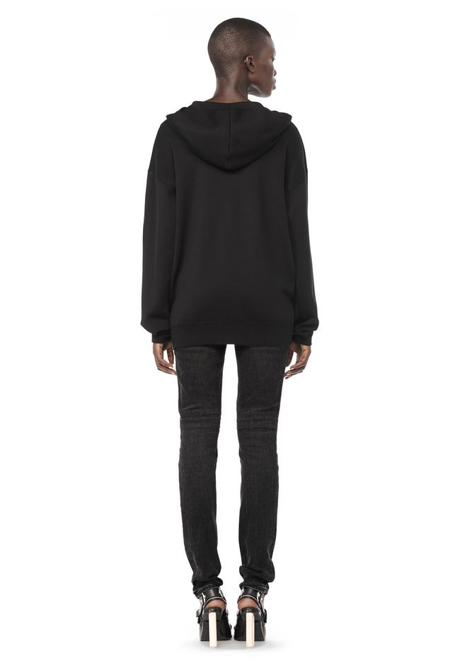 ALEXANDER WANG ZIP HOODIE WITH SEAMLESS POCKET JACKETS AND OUTERWEAR  Adult 12_n_r