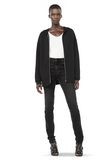 ALEXANDER WANG ZIP HOODIE WITH SEAMLESS POCKET JACKETS AND OUTERWEAR  Adult 8_n_f