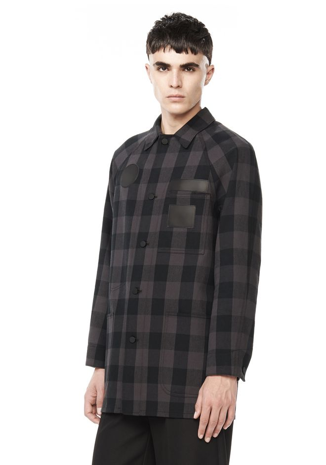 Alexander Wang ‎RUNWAY BUFFALO CHECK TRAIN JACKET ...