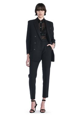 DOUBLE BREASTED BLAZER WITH CROPPED SLEEVES