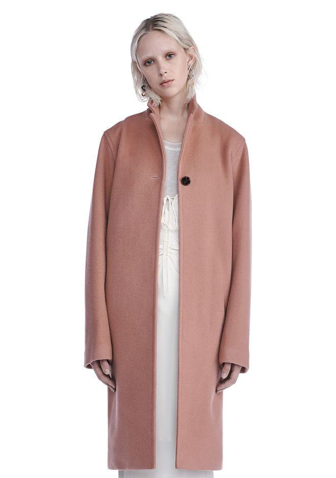 Alexander Wang LONG WOOL CAR COAT JACKETS AND OUTERWEAR | Official ...