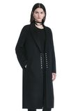 ALEXANDER WANG PEAK LAPEL LONG WOOLCOAT WITH SNAP CLOSURE DETAIL  JACKETS AND OUTERWEAR  Adult 8_n_a
