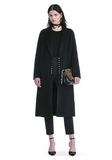 ALEXANDER WANG PEAK LAPEL LONG WOOLCOAT WITH SNAP CLOSURE DETAIL  JACKETS AND OUTERWEAR  Adult 8_n_f