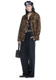 ALEXANDER WANG LEOPARD PRINT COACHES JACKET JACKETS AND OUTERWEAR  Adult 8_n_f
