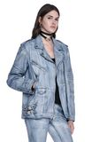 ALEXANDER WANG CLASSIC DENIM LEATHER BIKER JACKET  JACKETS AND OUTERWEAR  Adult 8_n_a