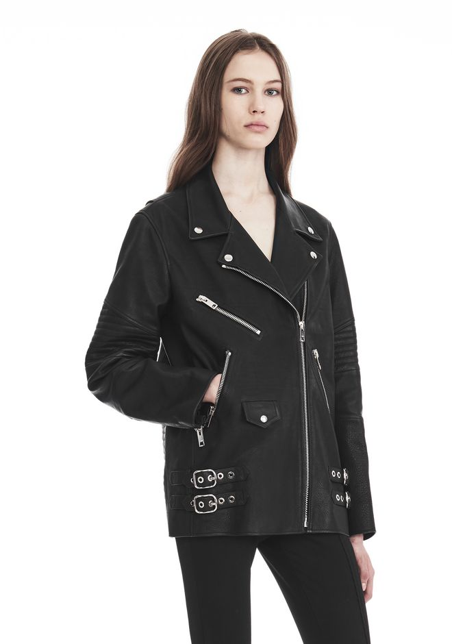 ALEXANDER WANG CLASSIC BIKER JACKET  JACKETS AND OUTERWEAR  Adult 12_n_a