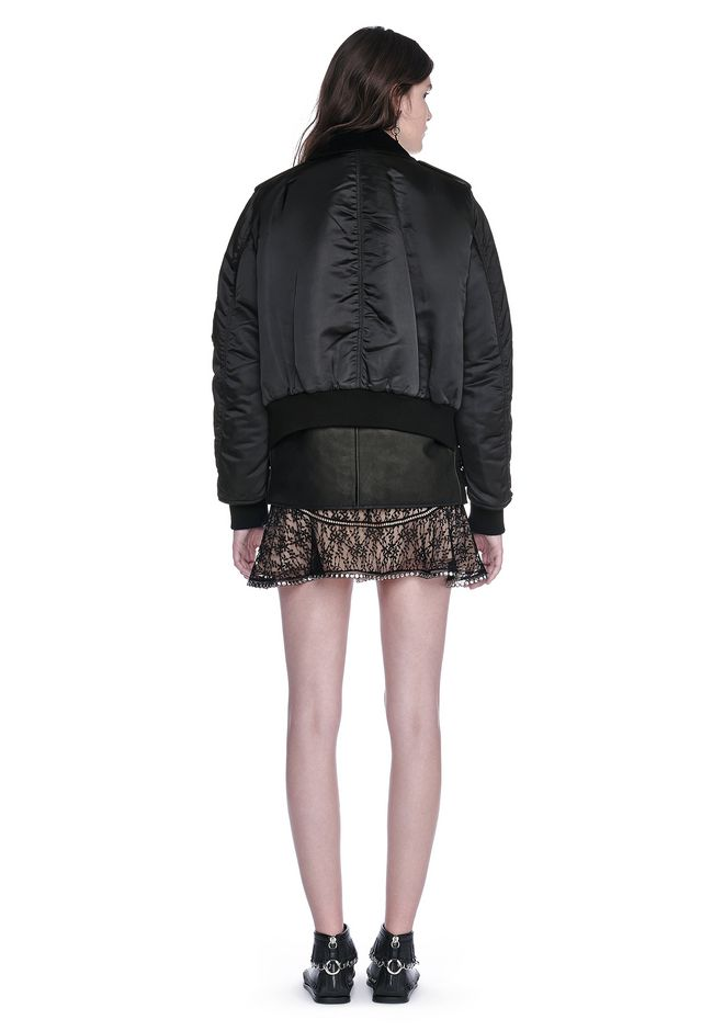 ALEXANDER WANG HYBRID MOTO BOMBER JACKET  JACKETS AND OUTERWEAR  Adult 12_n_r