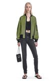 ALEXANDER WANG NEON BOMBER JACKET WITH MESH OVERLAY JACKETS AND OUTERWEAR  Adult 8_n_f