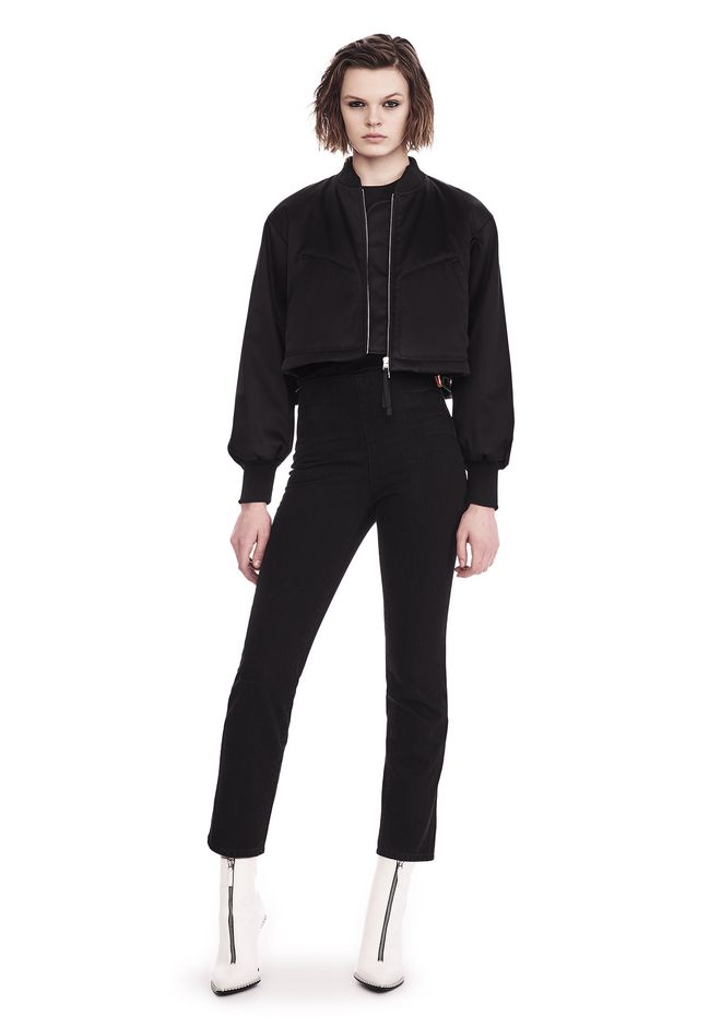 T by ALEXANDER WANG JACKETS AND OUTERWEAR  Women WATER RESISTANT CROPPED BOMBER