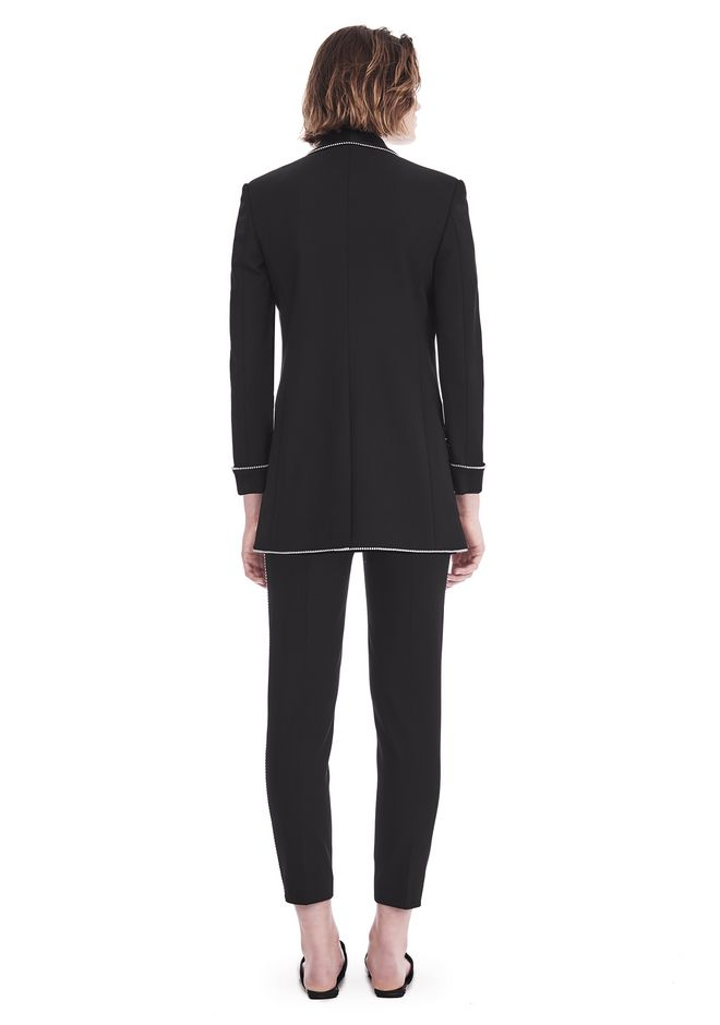 ALEXANDER WANG TUXEDO BLAZER WITH BALL CHAIN TRIM JACKETS AND OUTERWEAR  Adult 12_n_r