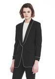 ALEXANDER WANG TUXEDO BLAZER WITH BALL CHAIN TRIM JACKETS AND OUTERWEAR  Adult 8_n_a