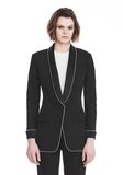 ALEXANDER WANG TUXEDO BLAZER WITH BALL CHAIN TRIM JACKETS AND OUTERWEAR  Adult 8_n_e