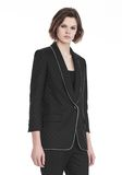 ALEXANDER WANG SHAWL COLLAR BLAZER WITH BALL CHAIN TRIM JACKETS AND OUTERWEAR  Adult 8_n_a