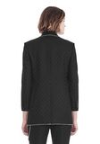 ALEXANDER WANG SHAWL COLLAR BLAZER WITH BALL CHAIN TRIM JACKETS AND OUTERWEAR  Adult 8_n_d