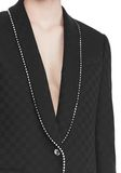 ALEXANDER WANG SHAWL COLLAR BLAZER WITH BALL CHAIN TRIM JACKETS AND OUTERWEAR  Adult 8_n_r