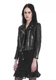 ALEXANDER WANG CROPPED SLEEVE MOTO JACKET WITH DOUBLE SNAP FRONT JACKETS AND OUTERWEAR  Adult 8_n_a