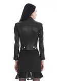 ALEXANDER WANG CROPPED SLEEVE MOTO JACKET WITH DOUBLE SNAP FRONT JACKETS AND OUTERWEAR  Adult 8_n_d