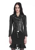 ALEXANDER WANG CROPPED SLEEVE MOTO JACKET WITH DOUBLE SNAP FRONT JACKETS AND OUTERWEAR  Adult 8_n_e