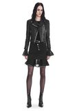 ALEXANDER WANG CROPPED SLEEVE MOTO JACKET WITH DOUBLE SNAP FRONT JACKETS AND OUTERWEAR  Adult 8_n_f