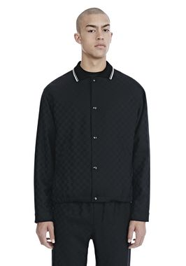 CHECKERBOARD WOOL JACQUARD COACH'S JACKET