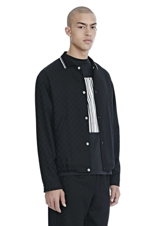 ALEXANDER WANG CHECKERBOARD WOOL JACQUARD COACH'S JACKET JACKEN & OUTERWEAR  Adult 12_n_a