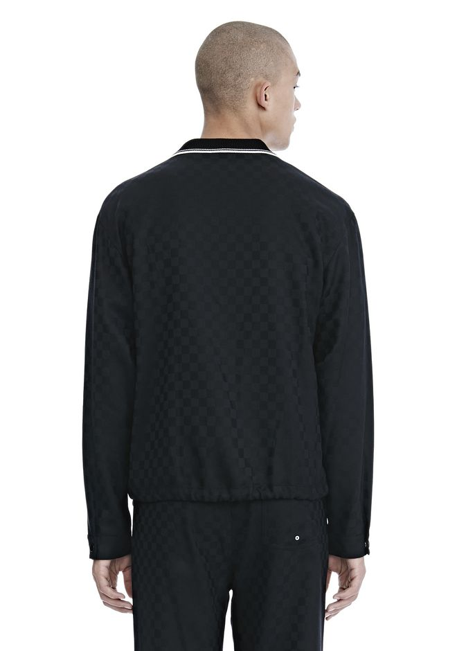 ALEXANDER WANG CHECKERBOARD WOOL JACQUARD COACH'S JACKET JACKEN & OUTERWEAR  Adult 12_n_d