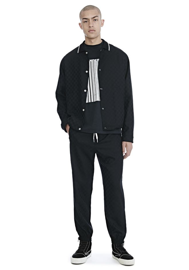 ALEXANDER WANG CHECKERBOARD WOOL JACQUARD COACH'S JACKET JACKETS AND OUTERWEAR  Adult 12_n_f