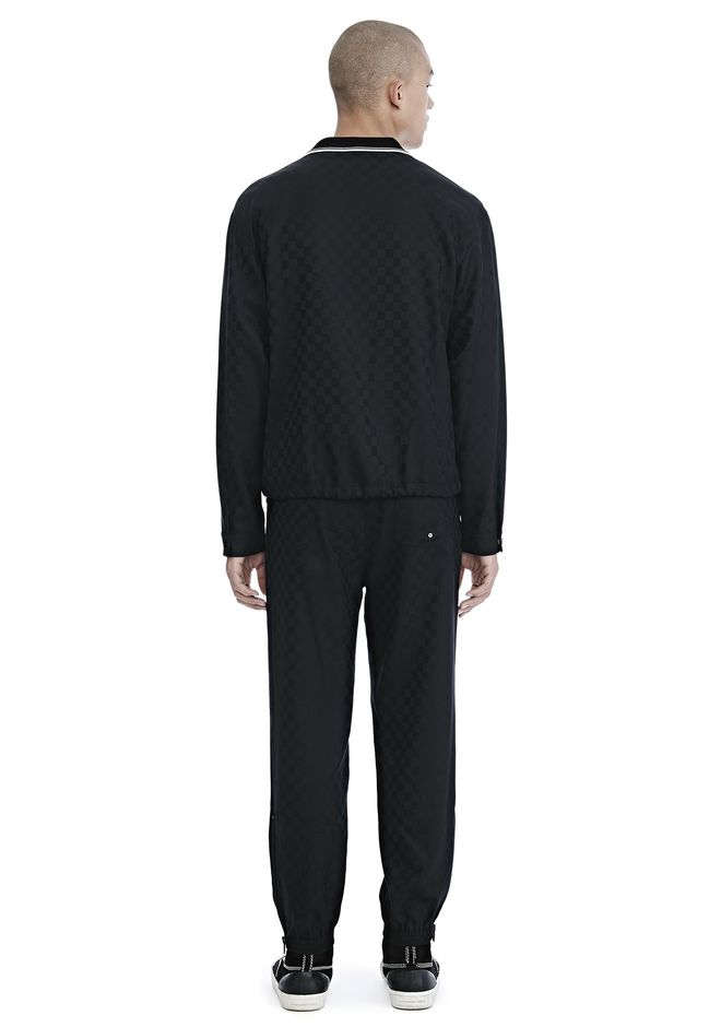 ALEXANDER WANG CHECKERBOARD WOOL JACQUARD COACH'S JACKET JACKETS AND OUTERWEAR  Adult 12_n_r
