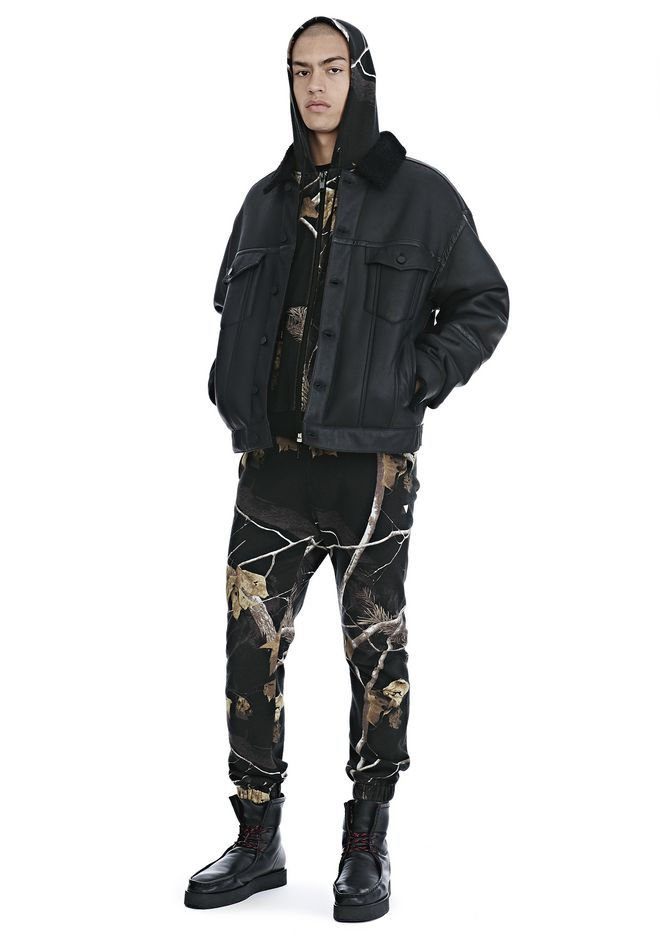 ALEXANDER WANG VESTES ET VÊTEMENTS OUTDOOR Homme EXCLUSIVE SHEARLING DENIM JACKET