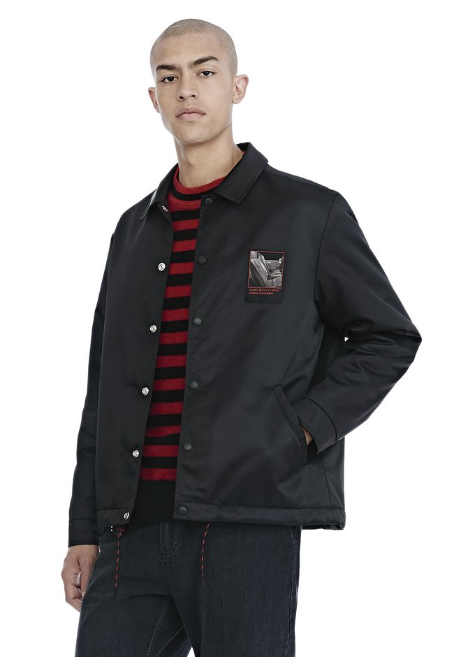 ALEXANDER WANG SLOW AND STEADY PATCH COACH'S JACKET  JACKETS AND OUTERWEAR  Adult 12_n_a