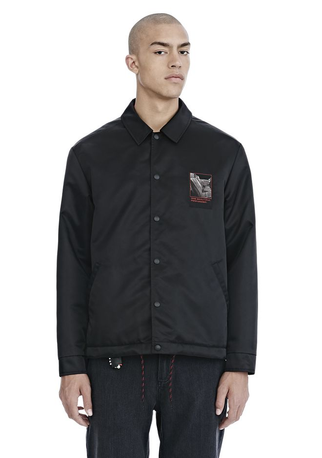 ALEXANDER WANG SLOW AND STEADY PATCH COACH'S JACKET  JACKETS AND OUTERWEAR  Adult 12_n_e