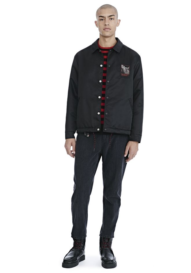 ALEXANDER WANG SLOW AND STEADY PATCH COACH'S JACKET  JACKETS AND OUTERWEAR  Adult 12_n_f