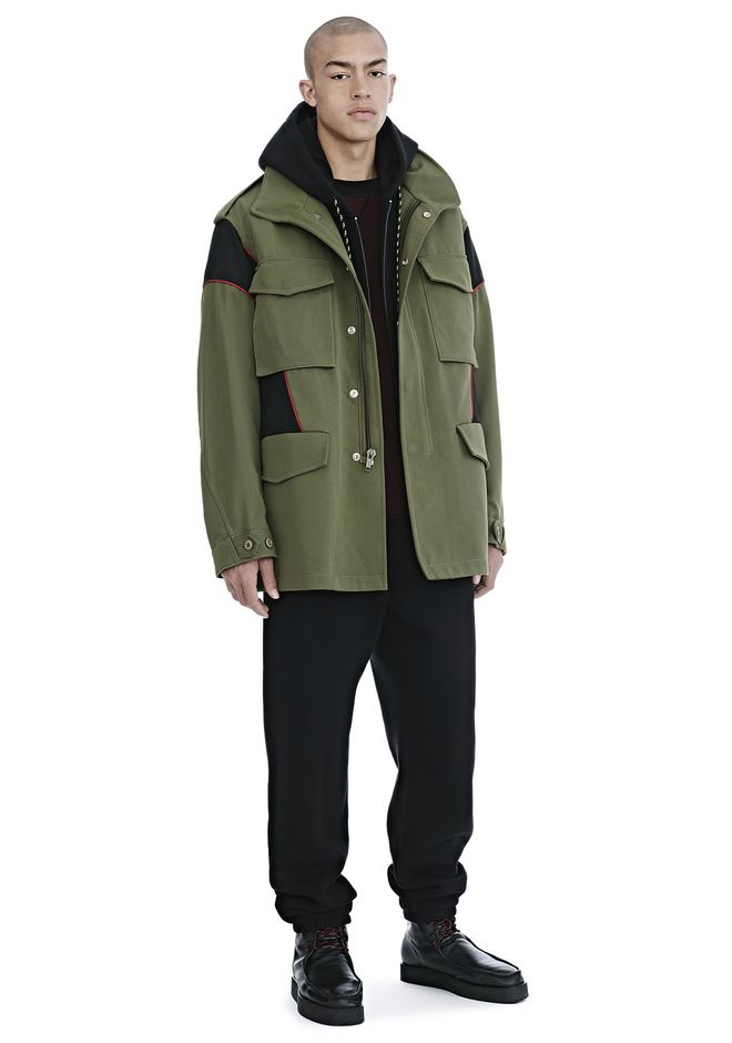 ALEXANDER WANG VESTES ET VÊTEMENTS OUTDOOR Homme HYBRID FIELD JACKET