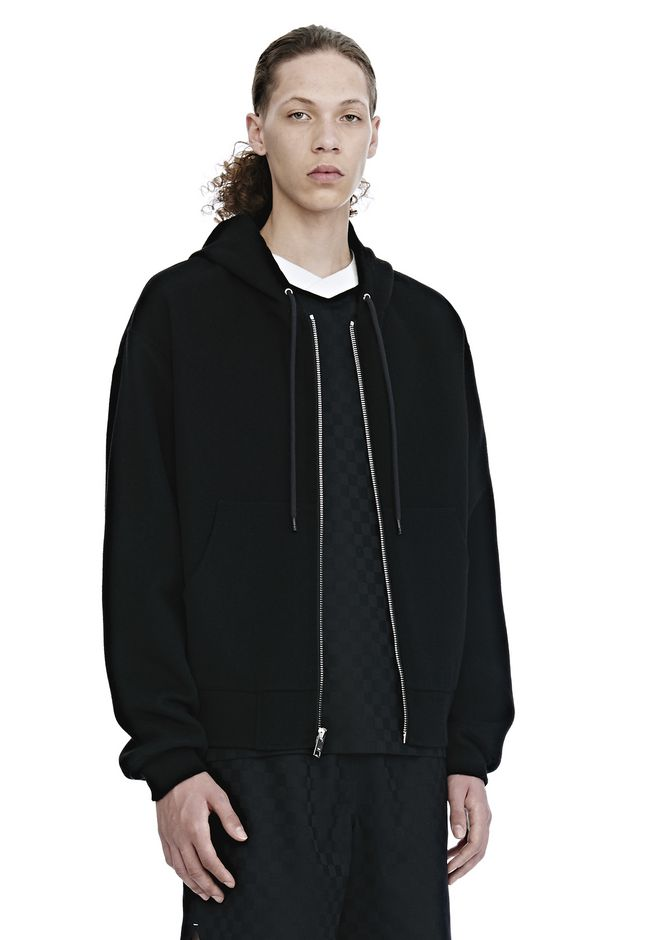 ALEXANDER WANG SPLITTABLE BRUSHED WOOL HOODIE JACKETS AND OUTERWEAR  Adult 12_n_a