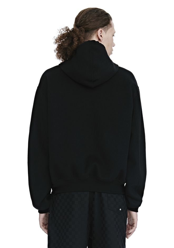 ALEXANDER WANG SPLITTABLE BRUSHED WOOL HOODIE JACKETS AND OUTERWEAR  Adult 12_n_d