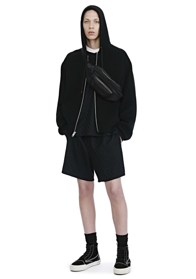 ALEXANDER WANG SPLITTABLE BRUSHED WOOL HOODIE JACKETS AND OUTERWEAR  Adult 12_n_f