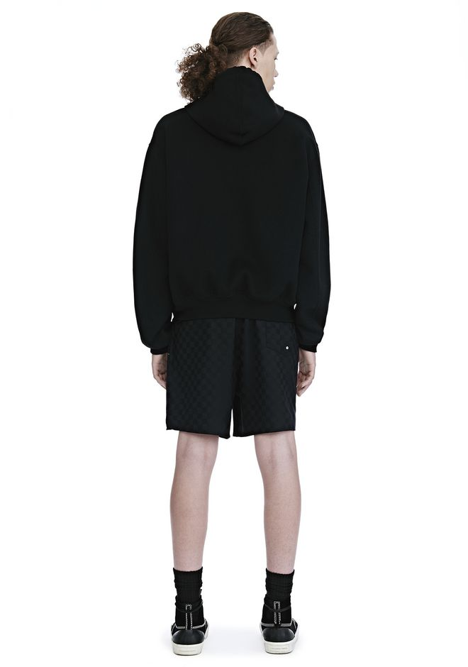 ALEXANDER WANG SPLITTABLE BRUSHED WOOL HOODIE JACKETS AND OUTERWEAR  Adult 12_n_r