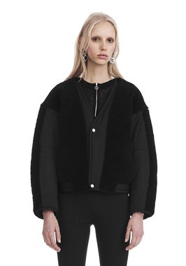 TWILL BOMBER WITH SHEARLING