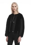 T by ALEXANDER WANG TWILL BOMBER WITH SHEARLING 夹克及外套 Adult 8_n_a
