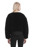 T by ALEXANDER WANG TWILL BOMBER WITH SHEARLING 夹克及外套 Adult 8_n_d