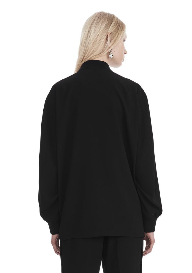 T by ALEXANDER WANG SATIN CREPE LONG SLEEVE WELDED BOMBER JACKETS AND OUTERWEAR  Adult 12_n_d