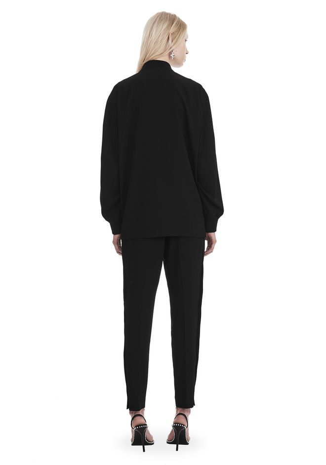 T by ALEXANDER WANG SATIN CREPE LONG SLEEVE WELDED BOMBER JACKETS AND OUTERWEAR  Adult 12_n_r