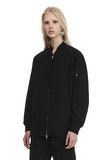 T by ALEXANDER WANG SATIN CREPE LONG SLEEVE WELDED BOMBER JACKETS AND OUTERWEAR  Adult 8_n_a
