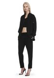 T by ALEXANDER WANG SATIN CREPE LONG SLEEVE WELDED BOMBER JACKETS AND OUTERWEAR  Adult 8_n_f