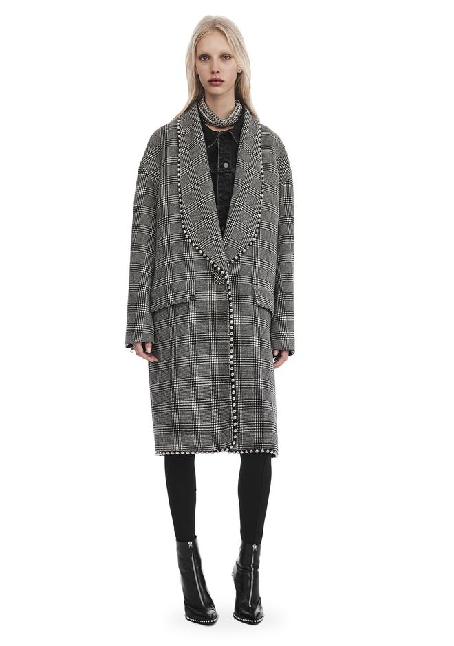 ALEXANDER WANG JACKETS AND OUTERWEAR  Women SHAWL COLLAR COAT WITH BIKER SLEEVES