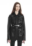 ALEXANDER WANG UTILITY JACKET WITH LEATHER FRINGE DETAIL JACKETS AND OUTERWEAR  Adult 8_n_e