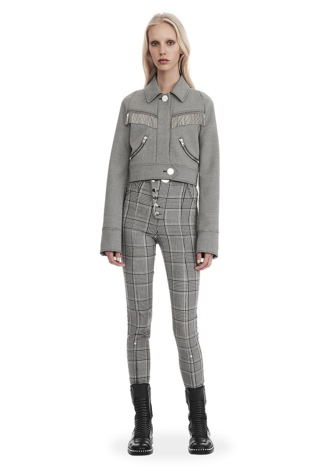 ALEXANDER WANG JACKETS AND OUTERWEAR  Women CROPPED CHECKERED JACKET