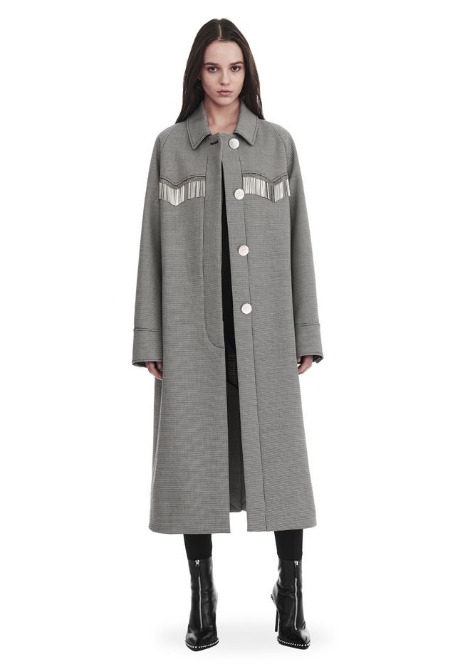ALEXANDER WANG JACKEN & OUTERWEAR  Für-sie CHECKERED CAR COAT