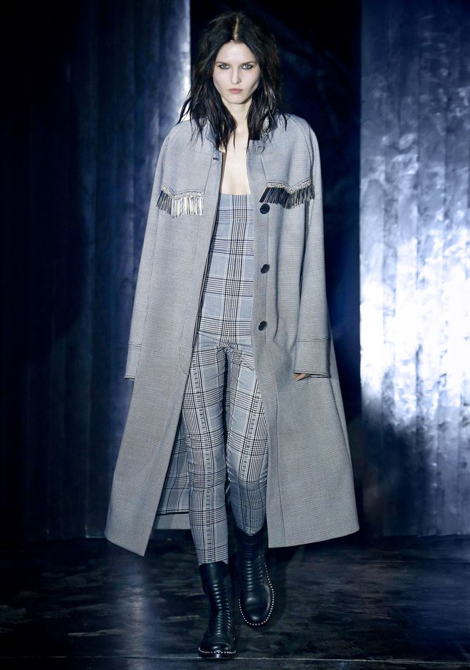 ALEXANDER WANG CHECKERED CAR COAT  JACKEN & OUTERWEAR  Adult 12_n_a