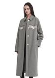 ALEXANDER WANG CHECKERED CAR COAT  JACKEN & OUTERWEAR  Adult 8_n_r